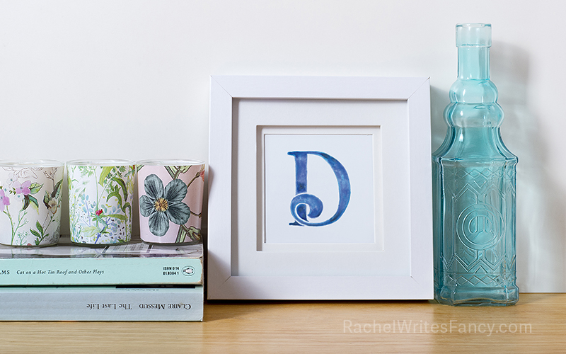 Watercolor Letter D