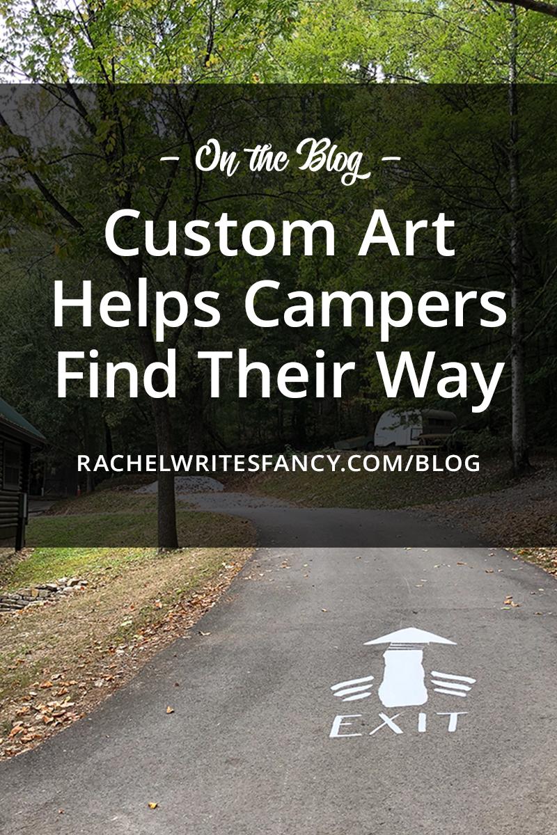custom art helps campers find their way