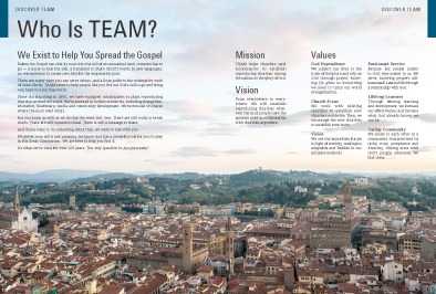 About TEAM Spread 1